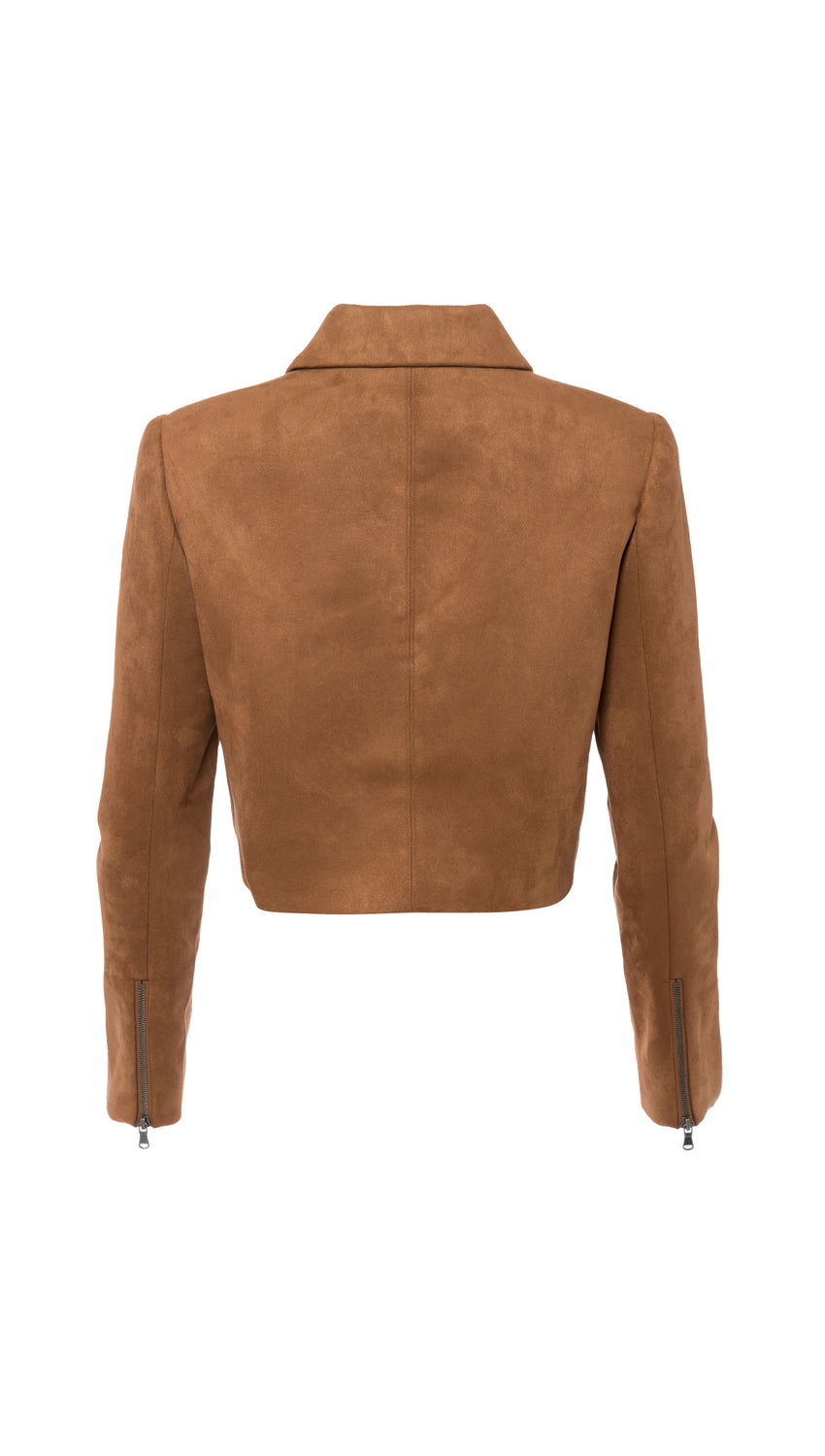 Cropped Moto in Faux Suede