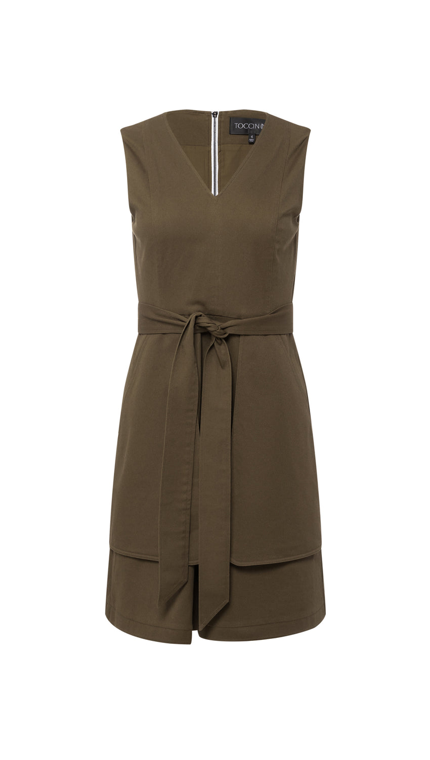 A-Line Pocket Dress in Olive
