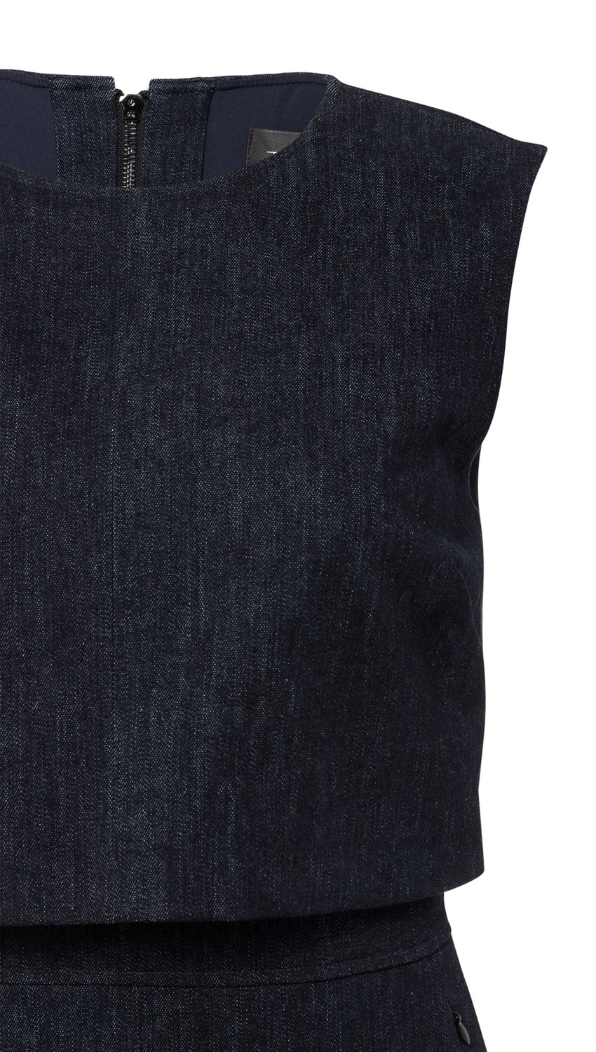 Overlay Sheath in Denim