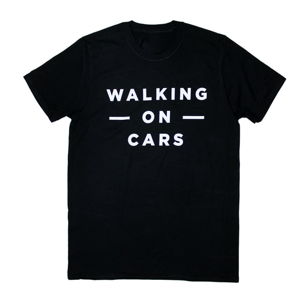 WALKING ON CARS LOGO BLACK T-SHIRT