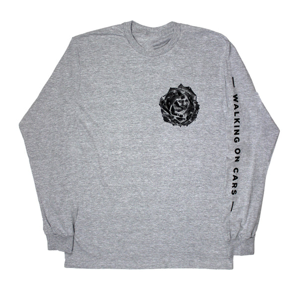 ROSE LONG SLEEVE GREY T-SHIRT