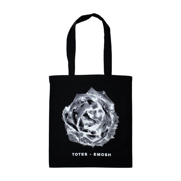 ROSE BLACK TOTE BAG