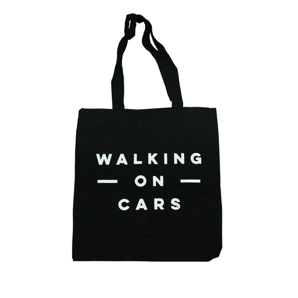 WALKING ON CARS LOGO TOTE BAG