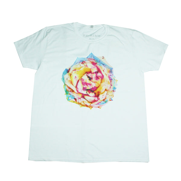 COLOURFUL ROSE WHITE T-SHIRT