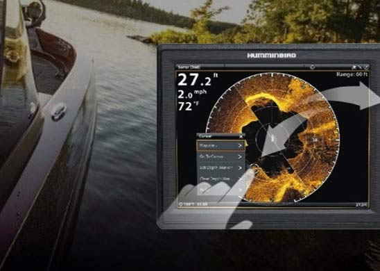 Humminbird Cross Touch Interface