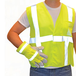 BlackCanyon Outfitters HVGC2VLP/XL - Hi-Visibility Green Class 2 Safety Vest and Work Glove Combo XL