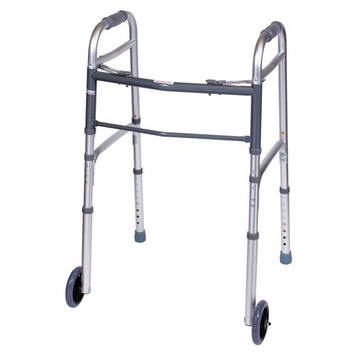 Carex Folding Walker with Wheels