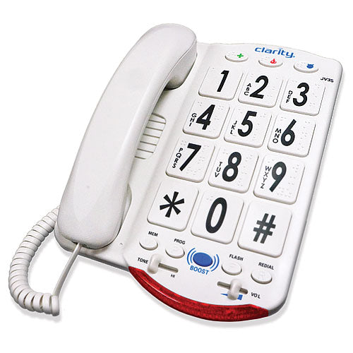 Clarity JV35-W - Amplified Corded Phone