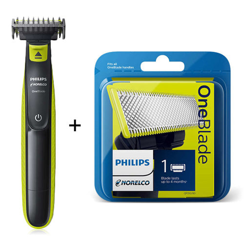 Norelco OneBlade + Blade - Trimmer & Blade Kit