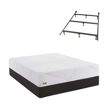 Sealy SMB Optimistic Plush Twin Std Set w Frame - Sealy Conform Essentials Mattress