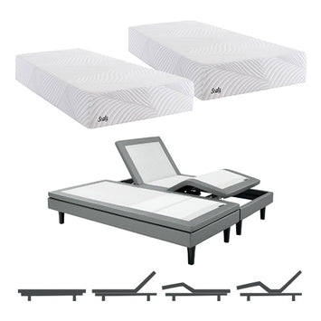 Sealy SMB Optmstic Plush Split King Mattress w Mass Base - Sealy Conform Essentials Mattress
