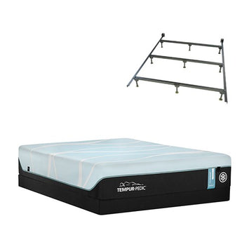 Tempurpedic Pro Breeze Medium Queen STD Set w Frame - TempurPedic Mattress