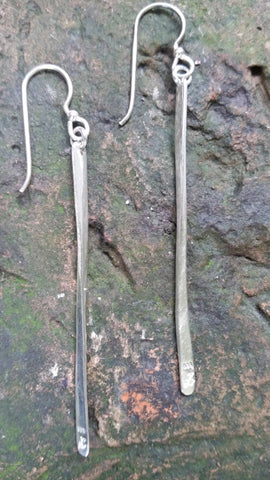Sterling Silver Stick Earrings