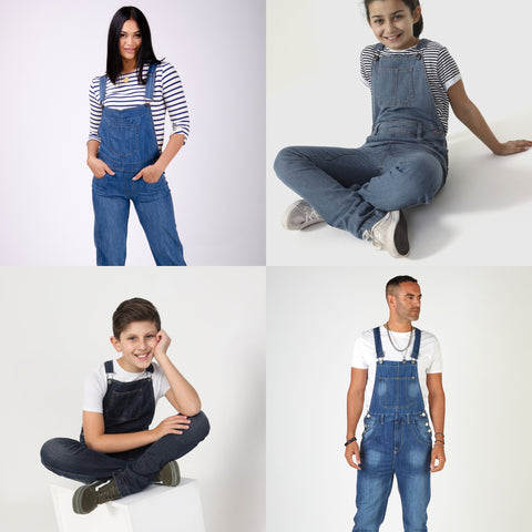 Dungarees for men, women, boys and girls