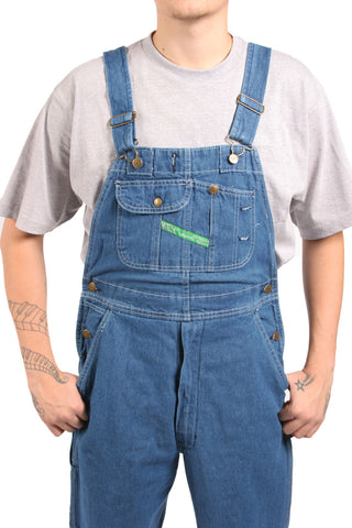 Key Industries Stonewash denim men's overalls.