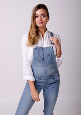 denim dungarees for women