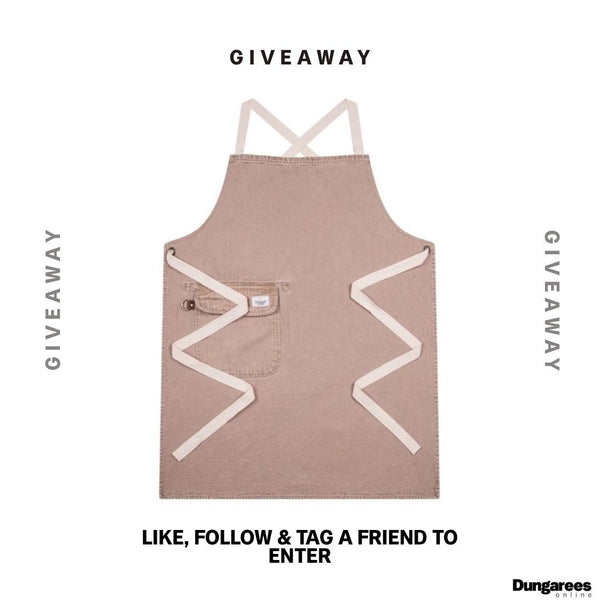 Dungarees-online apron giveaway promo.