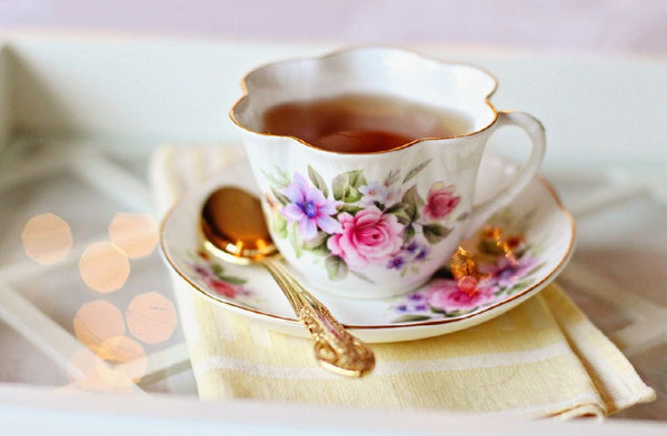 Tea without milk in best china.