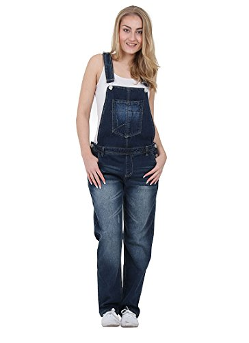 Womens Denim Dungarees - Size 8 only - Indigo