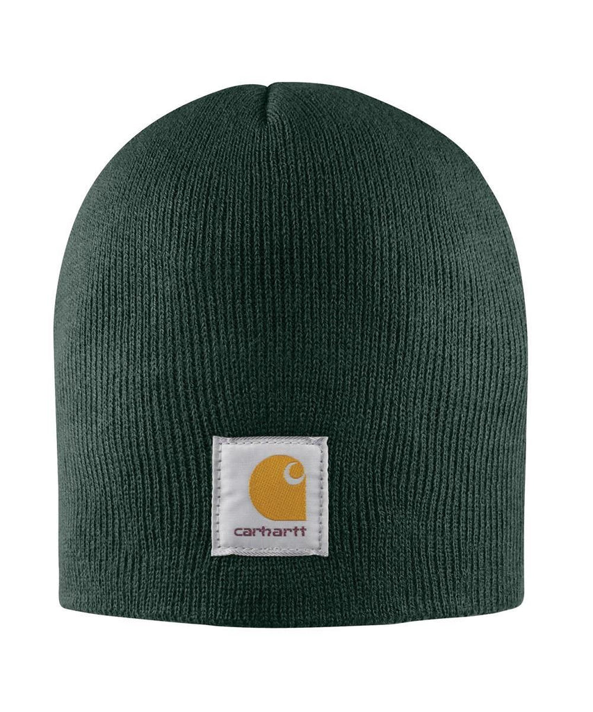 Carhartt rib knit traditional beanie in bottle-green.