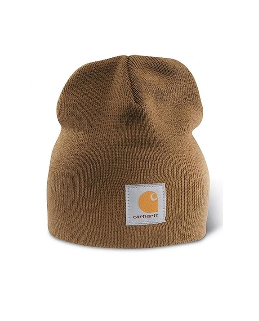 Carhartt rib knit traditional beanie in creamy-brown.