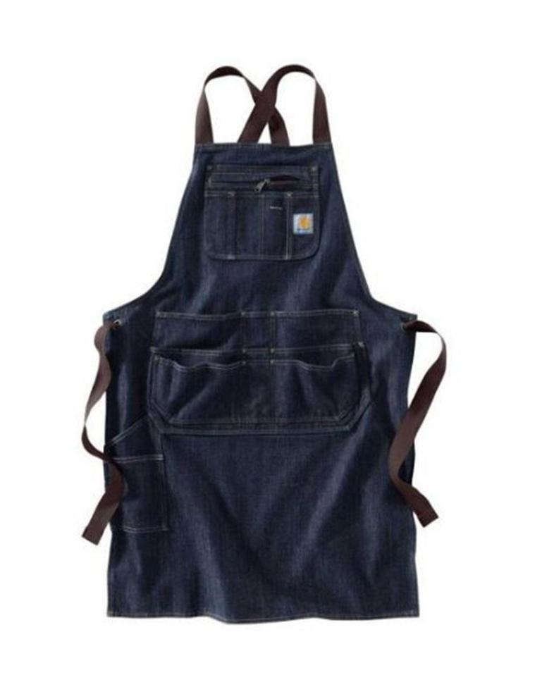 Front flat of Carhartt work apron with Criss-Cross strap ties in back.