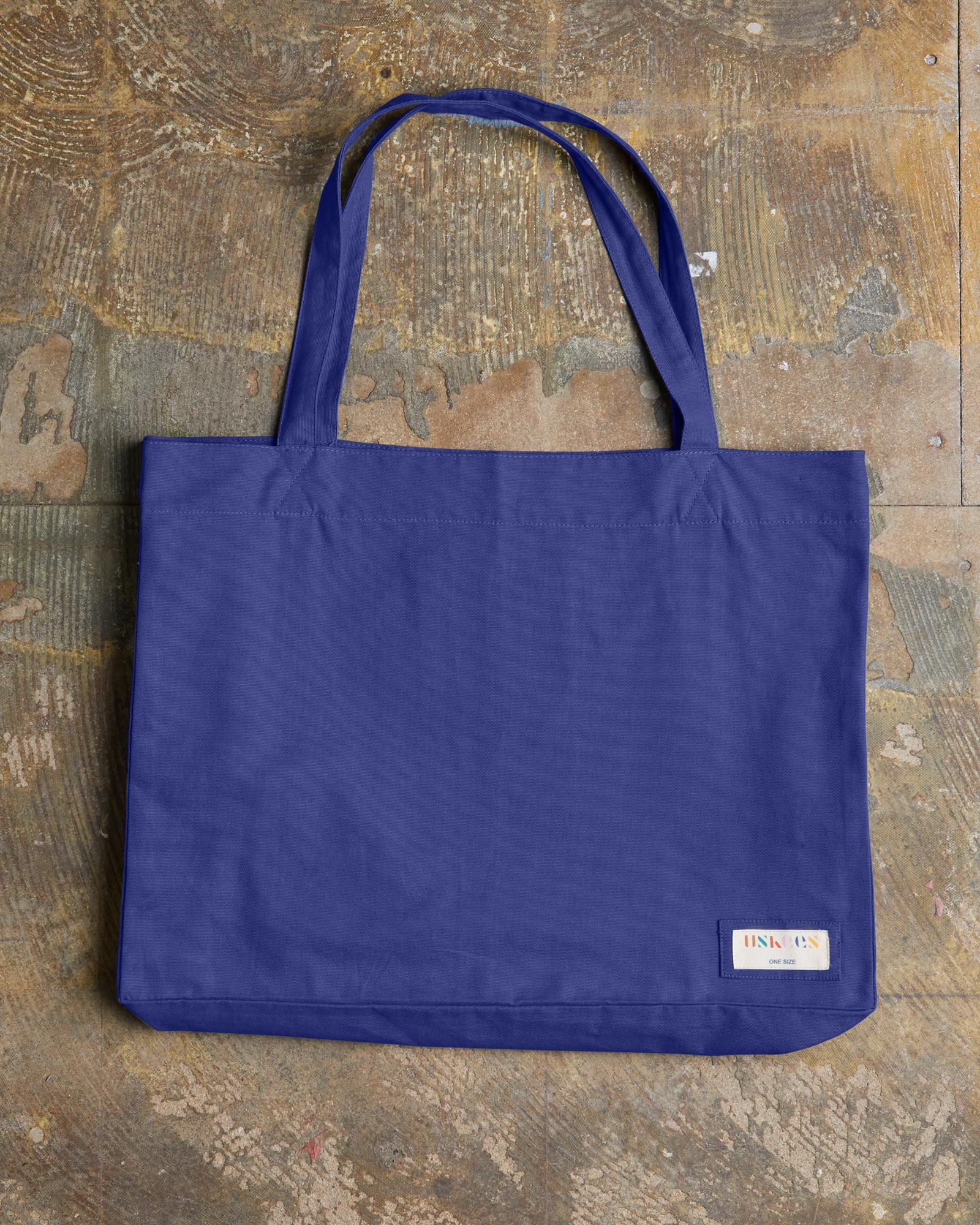 The #4001 Large Organic Tote Bag - Ultra Blue