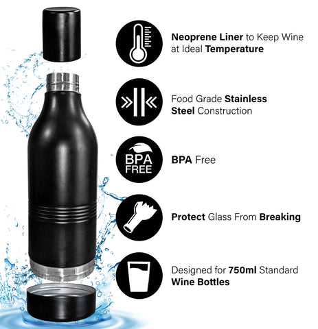 wine bottle thermos cooler temperature insulator