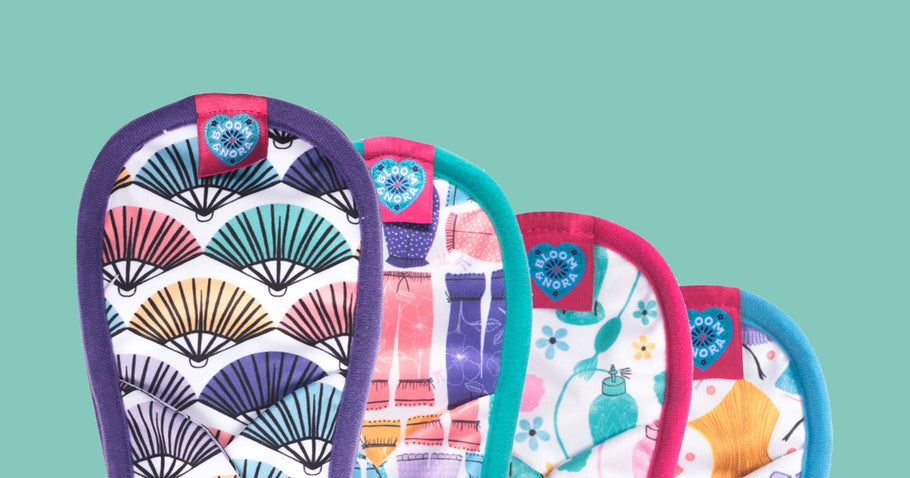 Never fear the flow with cloth sanitary pads
