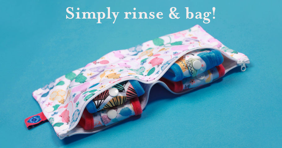 Back Weekends away with Bloom & Nora reusable sanitary pads