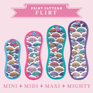 Bloom & Nora Reusable Sanitary Pads, bamboo bloomers print design Flirt