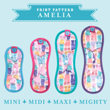 Load image into Gallery viewer, Bloom & Nora Reusable Sanitary Pads print design Amelia