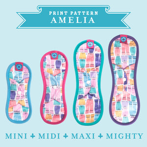 Bloom & Nora Reusable Sanitary Pads print design Amelia