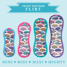 Load image into Gallery viewer, Bloom & Nora Reusable Sanitary Pads print design Flirt