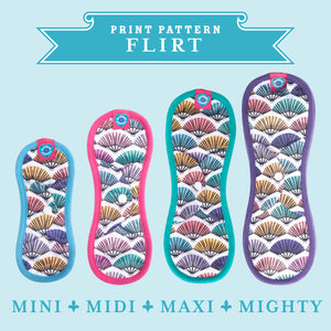 Bloom & Nora Reusable Sanitary Pads print design Flirt