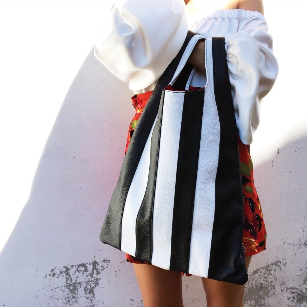 Shopper Bag In Stripe
