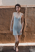 Load image into Gallery viewer, Mini Bias Slip Dress In Stripes