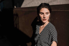 Load image into Gallery viewer, Rosa Wrap Dress in Spots