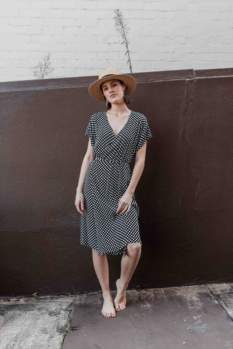 Rosa Wrap Dress in Spots