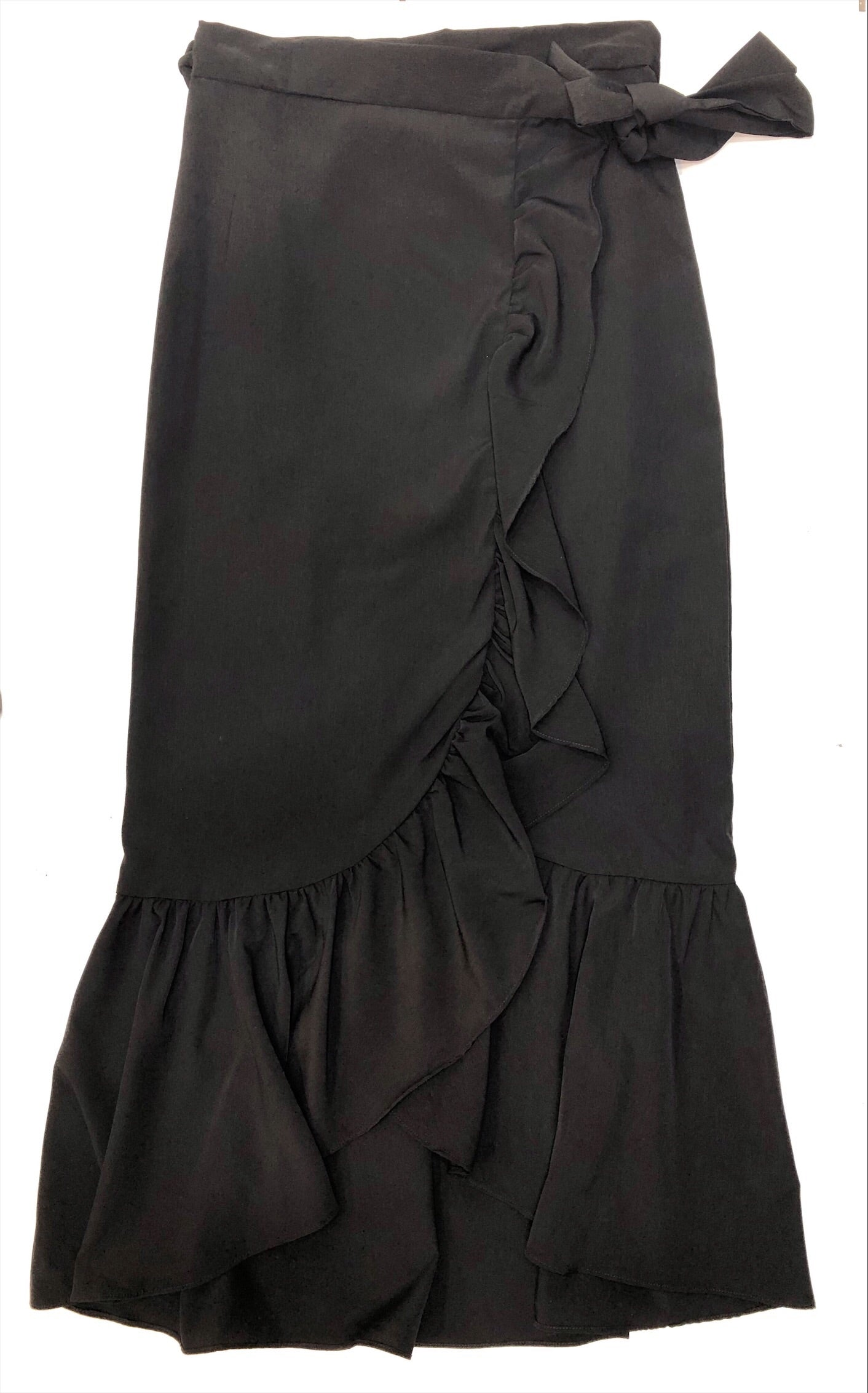 Ruffle Skirt In Black