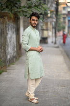 Load image into Gallery viewer, Green Striped Kurta