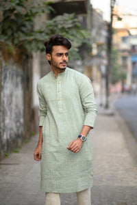 Green Men's Kurta