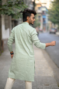 Green Kurta for men