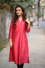 Load image into Gallery viewer, Chanderi Kurta - 001