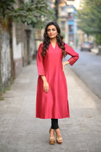 Load image into Gallery viewer, Chanderi Maroon Kurta