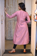 Load image into Gallery viewer, Chanderi Pink Kurta
