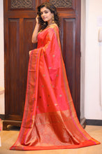 Load image into Gallery viewer, Red Silk Saree