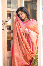 Load image into Gallery viewer, Pink & Orange Saree