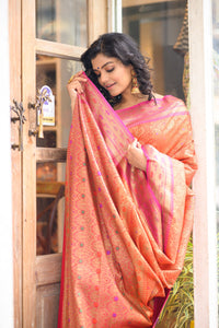 Pink & Orange Saree