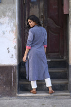Load image into Gallery viewer, Blue Cotton Kurti